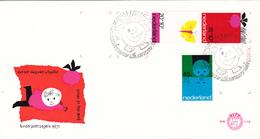 8,0114 NVPH FDC PTT Post E 114 996 1000 Dessins Enfants Enveloppe 1er Jour FDC PB 9-11-1971 Kind Tirage Oplaag 22000 - FDC