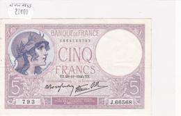 Billet De 5 Francs VIOLET Du 28 Novembre 1940 - J.66568 Alph 793 @ N° Fayette : 4.15 - 1871-1952 Anciens Francs Circulés Au XXème