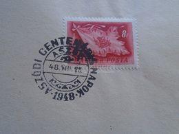 D170899 Hungary - Special Postmark  1948 ASZÓD 1848-1948 - Poststempel (Marcophilie)