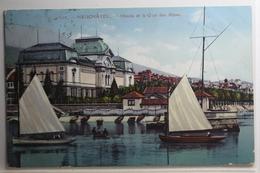 AK Neuchâtel Musée Et Le Quai Des Alpes 1915 Gebraucht #PH009 - NE Neuenburg