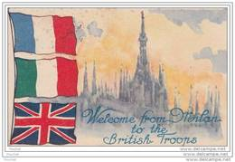 Welcome From Milan To The British Troops - Omagio Delle Officine Ricordi Alle Truppe Alleate - Drapeaux. Ww1. Militaria - Patriotic