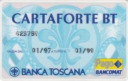 SCHEDA TESSERA BANCA TOSCANA  NON ATTIVA - Non Classificati