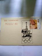 Moscu 80 Moscow 80 Olimpics The Pictorial Pmk Círculo Filatelico De Matanzas - Verano 1980: Moscu
