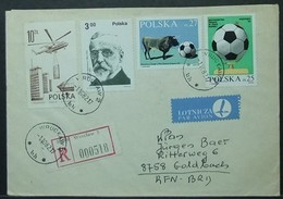 Poland - Registered Cover To Germany 1982 Soccer World Cup FIFA Helicopter Wroclaw - 1982 – Espagne