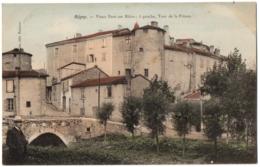 CPA 42 - REGNY (Loire) - Vieux Pont Sur Rhins ; à Gauche, Tour De La Prison - Francia