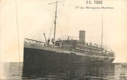 Transport - Bateaux :  Cie Des Messageries Maritimes  SS.TIGRE   Réf 7677 - Steamers