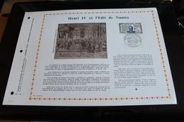 EDITIONS P A C SOISSONS FEUILLET 1969 A ETE TIRE A 750 EXEMPLAIRES    TIMBRE   HENRI IV ET L EDIT DE NANTES - 1960-1969