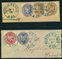 """1866,1867, Zwei Schöne Briefstücke """"BERLIN P.E. No. 12"""" Und """"..14"""" Mit Wappenfrankatur - Prusse"""