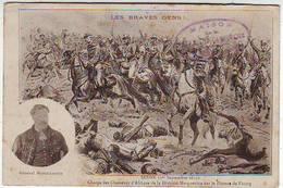 08. SEDAN . GUERRE DE 1870 . LES BRAVES GENS . CHARGE DES CHASSEURS D'AFRIQUE DE LA DIVISION MARGUERITTE SUR LE PLATE. - Sedan