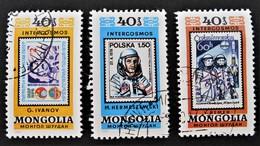 COSMONAUTES 1980 - OBLITERES - MI 1323/24 + 1326 - Mongolie