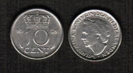 NETHERLANDS  10 CENTS 1948 (KM # 177) #5477 - [ 3] 1815-… : Kingdom Of The Netherlands
