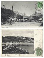SUISSE - LE PONT - Lot De 2 CPA - 1907 - Hôtel De La Truite, Vallée De Joux - VD Vaud