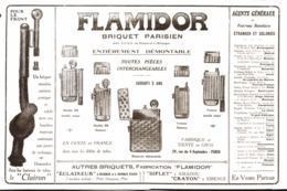 """PUB BRIQUETS    """" FLAMIDOR  """"    1915  ( 6 ) - Andere"""