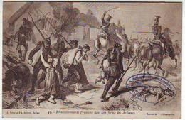 08. SEDAN . GUERRE DE 1870 . REQUISITIONNAIRES PRUSSIENS DANS UNE FERME DES ARDENNES . Editeur A. SUZAINE - Sedan