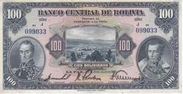 BILLETE DE BOLIVIA DE 100 BOLIVIANOS DEL AÑO 1928  SERIE J (BANKNOTE) - Bolivië