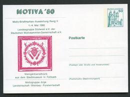 WINEGROWER'S CABINET Fellbach 1980 Germany STO Postal Card PP103 D2/005 - Wein & Alkohol