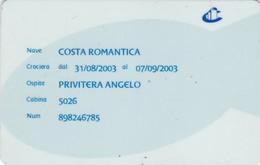 SCHEDA TESSERA COSTA ROMANTICA  NON ATTIVA - Altre Collezioni