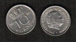 NETHERLANDS  10 CENTS 1955 (KM # 182) #5481 - [ 3] 1815-… : Kingdom Of The Netherlands