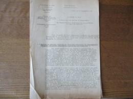 ETAT FRANCAIS LILLE LE 25 SEPTEMBRE 1941 LE PREFET CIRCULAIRE N°36 REGIME DES CARTES PROVISOIRES DE VÊTEMENTS ET D'ARTIC - Historische Documenten