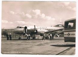 VV-506  HAMBURG : Flughafen / Airport With Finnair Convair Metropolitan - Aérodromes