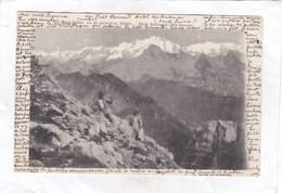 CPA :  14 X 9  -   Le  Mont  Blanc  Vu  De  Jalouvre.  2404 M.  - Petit  Bornand  (Hte-Savoie) - Frankrijk