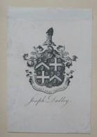 Ex-libris Héraldique Illustré XIXème - JOSEPH DUDLEY - Ex-libris