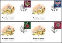RUSSIA 2020 COVER Used FDC Mi 2818-21 Treasures Gokhran Jewelry Minerals DIAMOND DIAMONDS MUSEUM MUSEE ART 2595-98 - 1992-.... Federation