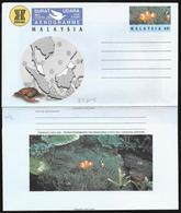 Malaysia: Intero, Stationery, Entier, Pesce, Tartaruga, Mappa, Fish, Turtle, Map, Poisson, Tortue, Carte - Pesci