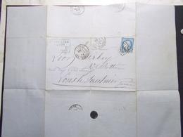 Document Lettre Classique Facture Entête Professionnelle CUIRS ET PEAUSSERIES LYON 1872 (2629) - 1849-1876: Période Classique