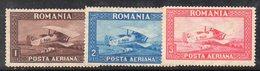 APR2059A - ROMANIA 1928 , Posta Aerea Serie Yvert  1/3  * Linguella Pesante - Nuevos