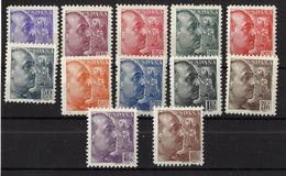 ESPAÑA ** 867/78 En Nuevo Sin Charnela. Catalogo 360 € - 1931-50 Nuevos & Fijasellos