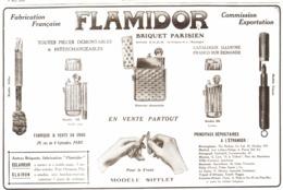 """PUB BRIQUETS    """" FLAMIDOR  """"    1915  ( 7 ) - Andere"""