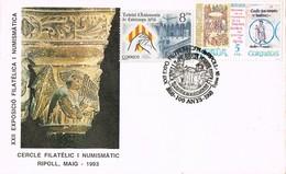 35687. Carta RIPOLL (Gerona) 1993. MUSICA, Capella De Santa Maria De RIPOLL - 1931-Hoy: 2ª República - ... Juan Carlos I