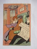 MELINA  -    LA  CABINE  DE  TRAIN   .... THE TIMES       TTB - Autres Illustrateurs