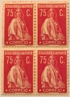 "POR#4900-Block Of 4 MNH Stamps Of 75 Centavos - ""CERES"" - Portugal - 1930 - Blocchi & Foglietti"
