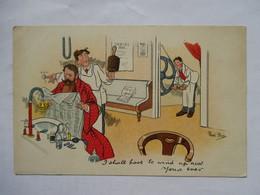 RENE  BULL  -     SCENE  CHEZ  LE  COIFFEUR  ...      TTB - Autres Illustrateurs