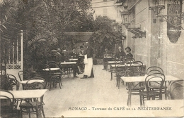 TERRASSE DU CAFE DE LA MEDITERRANEE . REYNAUD  CARGNINO - Cafés & Restaurants