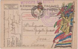 1918 POSTA MILITARE/CONCENTR SEZIONE E.P./I D Annullo Meccanico (30.11) Su Cartolina Franchigia - 1900-44 Victor Emmanuel III