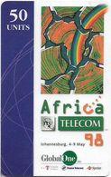 South Africa - GlobalOne - ITU Africa Telecom, Remote Mem. 50Units, Used - Suráfrica