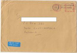 7736FM- LONDON, AMOUNT 0.54, RED MACHINE STAMPS ON COVER, 1995, UK - 1952-.... (Elizabeth II)