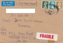 7738FM- QUEEN ELISABETH 2ND STAMPS ON COVER, 1994, UK - 1952-.... (Elizabeth II)