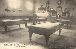 TERRASSE DU CAFE DE LA MEDITERRANEE . REYNAUD  CARGNINO .SALLE DE BILLARD - Cafés & Restaurants