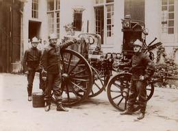PRCP, Originale Sapeurs Pompiers De Paris / Pompe à Vap, Les Sapeurs-Pompiers, Brandweer, Photo Of Old Postcard, 2 Scans - Métiers