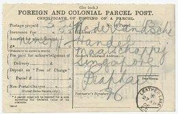 Parcel Posting Certificate GB / UK 1906 Leather - Leather Lane London - Costumi