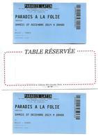 922 - BILLETS ET RESERVATION AU SPECTACLE DU PARADIS LATIN . TOUR EIFFEL PANTHEON ND DE PARIS - Tickets D'entrée