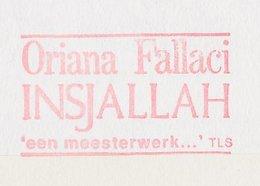 Meter Cover Netherlands 1992 Oriana Fallaci - Writer - Insjallah - Scrittori