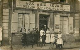 49 St Georges Sur Loire, Belle Carte Photo Du Café Defois, Personnel Et Clients... - Saint Georges Sur Loire