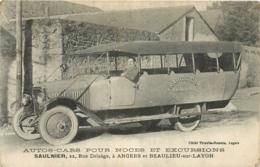 49 Angers Et Beaulieu Sur Layon, Maison D'autos-cars, Saulnier, Top Carte - Angers