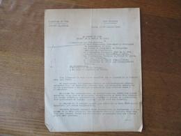 ETAT FRANCAIS LILLE LE 10 JUILLET 1943 LE PREFET FERNAND CARLES NOTE AU SUJET DU 14 JUILLET 1943 - Historische Dokumente