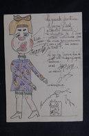 VIEUX PAPIERS - Signature Du Roi Du Japon, Sur Document Dessiné Lors D'une Représentation Musicale Au Japon -  L 52478 - Old Paper